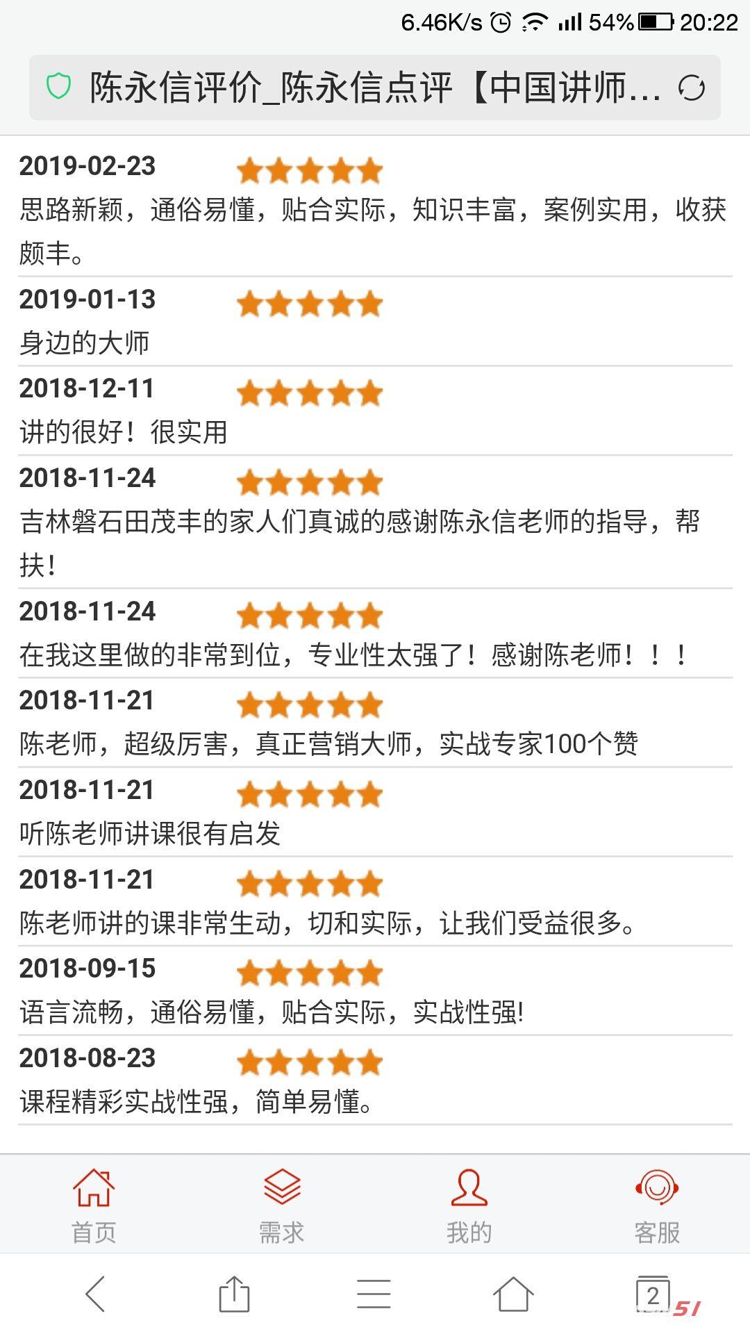 陈永信老师课程评价